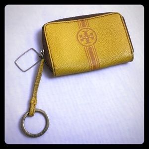 Tory Burch key ring card holder change purse.
